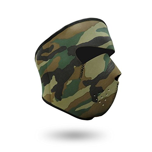 iXium Full Face Maske aus Neopren Outdoor Sport Balaclava Bandana BMX Motorrad Biker Quad Ski Masken Filter–Camo Camouflage Armee Design (American Spa Filter)