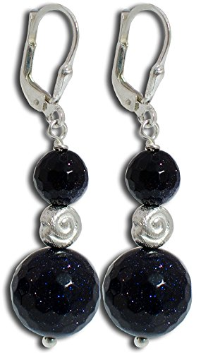 i-be-blue-sandstone-gemstone-earrings-with-small-silver-spiral-925-silver-length-45-cm-in-gift-box-3