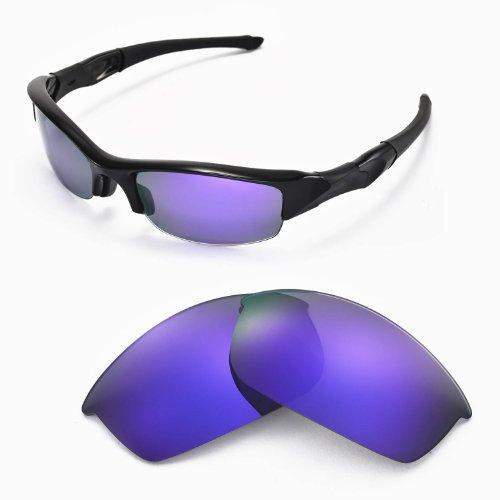 sunglasses restorer Kompatibel Ersatzgläser für Oakley Flak Jacket, Polarisierte Purple