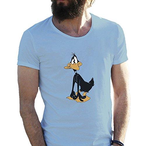 daffy-duck-confussed-azzurro-t-shirt-maglietta-per-uomo-xx-large