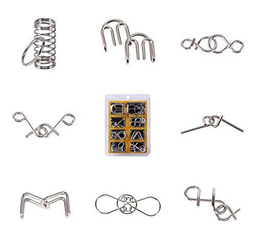 8Pcs / Set Juguetes educativos Alambre metal IQ Espíritu