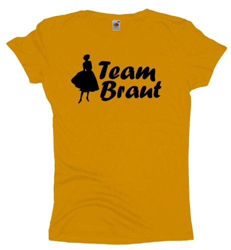 Ma2ca - JGA Team Braut - Girlie Damen Jungesellenabschied T-Shirt -sunflower-m