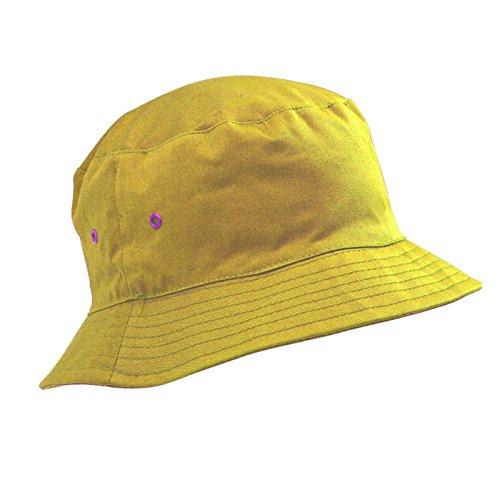Kinder-Baumwollhut/Sonnenkappe, Alter 5-11Jahre, Jungen oder Mädchen Gr. 56 cm, gelb