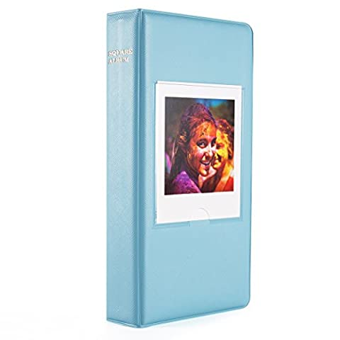 Woodmin 64 Pockets Photo Album for Fujifilm Instant SQUARE SQ10 Films (Blue)