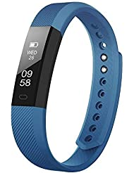LETSCOM Fitness Tracker, Pedometer Watch with Slim Touch Screen and Wristbands, Wearable Activity Trackers as Sleep Monitor, Fitness Watch without Heart Rate