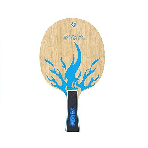 Single Tischtennisplatte Tischtennisschläger Boden Langer/kurzer Griff einzelner Nur Kugelplatte Kein Gummi Allround