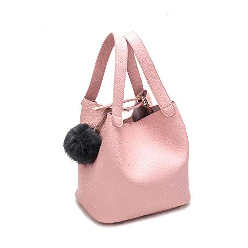Jeerui Sac à main pendentif boule de cheveux sac à main sac à main Lady Bags Pu Sac à main pour les femmes et les filles