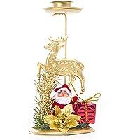 Emorias 1 Pcs Candelabro de Navidad Dibujos Animados Decoracion de Escritorio La Vela Portavelas Moderno Lamparas - Elk