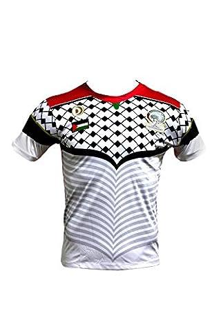 Maillot De Foot Palestine CZ228 Blanc - S