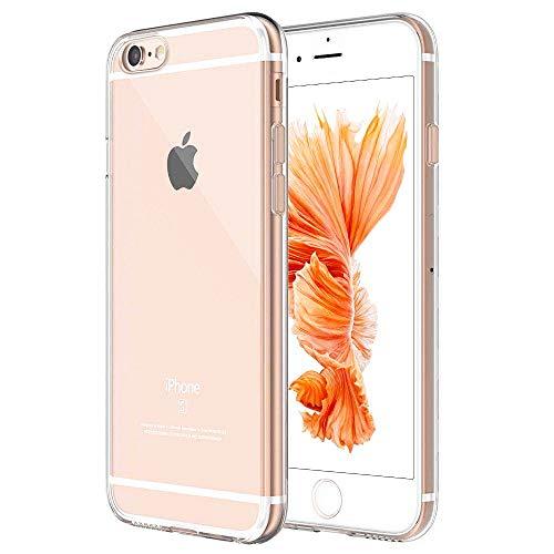 Whew Handyhülle Kompatibel iPhone 6, Schutzhülle Kompatibel iPhone 6s, Ultra Dünn Transparent Weiche Silikon TPU Hülle, Stoßdämpfend, Staubschutz, Anti-Kratz Handyschutzhülle, Clear Case Coverr