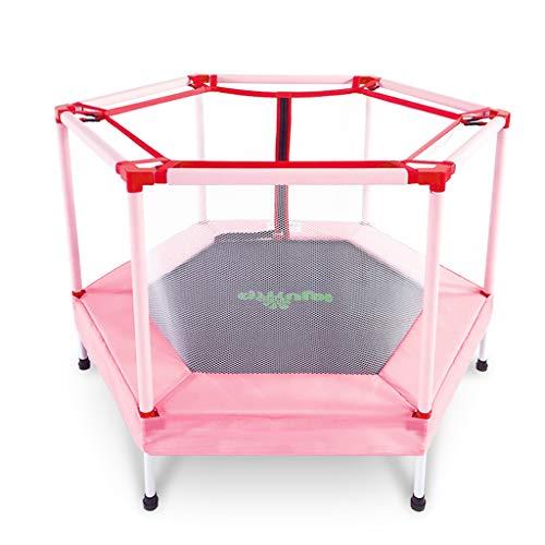 Übungs-Trampolin Gartentrampoline Kinder mit Schutznetz Indoor-Baby-Sprungfeder faltbares Mini-Trampolin kleines Fitness-Trampolin für Heimkinder, mit ca. 120kg Trampoline