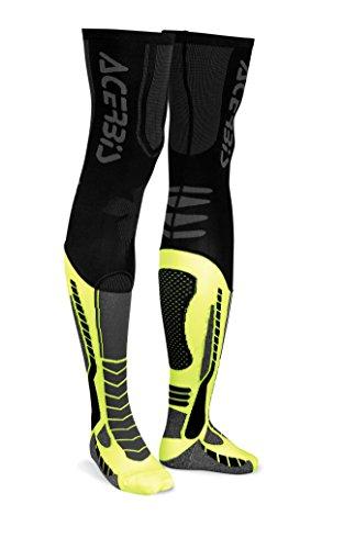 Acerbis 0021693.318.069 x-leg Pro Chaussettes pour Homme, Noir/Jaune