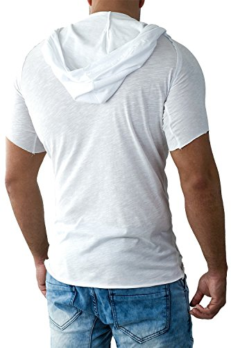 Redbridge Herren T-Shirt Oversized Streetwear Freizeit Kapuze Top by Cipo Baxx Weiß