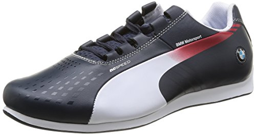 Puma BMW MS evoSPEED 1.3 Ultra, Herren Sneakers, Blau (01 bmw team blue-white-high risk red), 42 EU (8 Herren - 8. Ms-team