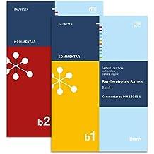 Barrierefreies Bauen: Kommentare zu DIN 18040-1 und -2 Paket: Band 1 + Band 2 (Beuth Kommentar)