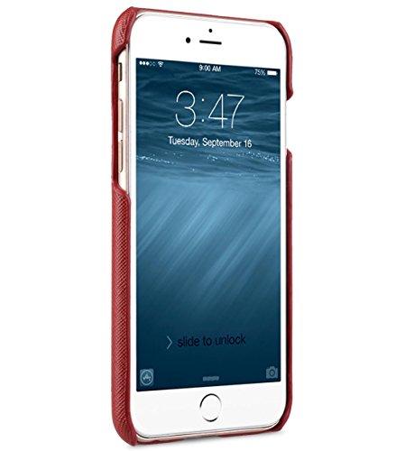 Apple Iphone 7 Melkco Elite-Serie Premium Leder-Snap zurück Tasche Tasche mit Premium-Leder Handgefertigte gute Schutz, Premium Feel-Tan Light Blue Kreuz-Muster PU