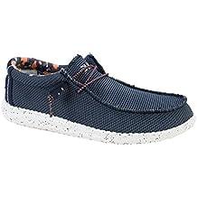 Dude Shoes Sox de Wally Hombres Azul Multi