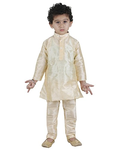 JBN Creation Boys Raw Silk Kurta Pyjama with Matching Dupatta...