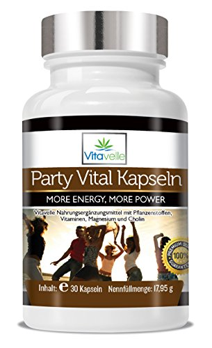Anti-alkohol (Party Super Vital Power Booster I 30 Vegane Cellulose Kapseln I Mehr Power für jede Party I Auch geeignet für den Kater am morning after I Anti Kater Kapseln)