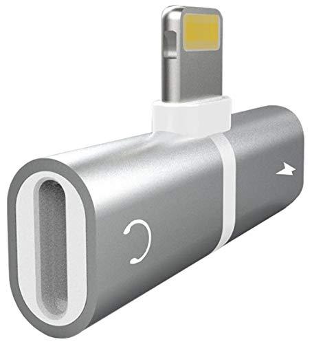 iPrime Audio Adapter/Kopfhöreradapter - Dual Splitter [gleichzeitig Musik hören/Aufladen] Metallic Look kompatibel mit iPhone XS, XS Max, XR, X, 8, 8 Plus, 7, 7 Plus, 6s, 6s Plus, 5s, SE - Grau 6 Audio-splitter