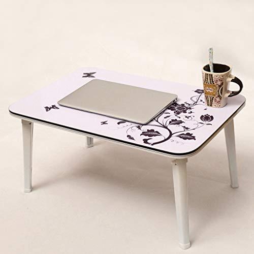 JIANPING Laptop Schreibtisch Bett einfach faul faul kleinen Tisch Kinder Lernen aktivität Schreibtisch schwarz weiß 60x40x29 cm Tabelle (Color : White)