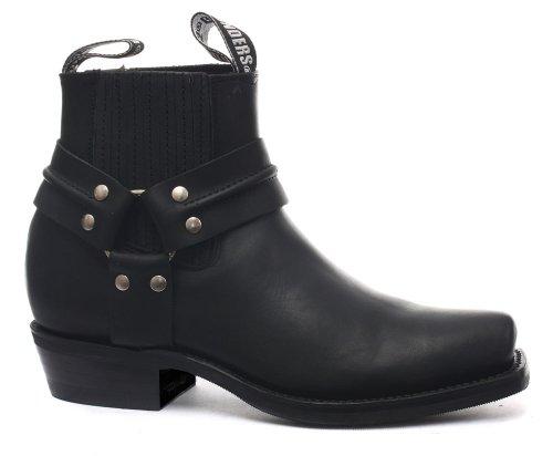 Grinders Renegade Lo Noir Homme Cowboy Bootes