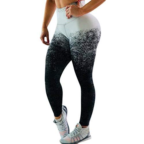 Haludock Frauen Sommer Hohe Taille Beiläufige Gradienten Dot Print Yogahosen Damen Bequem Laufen Elastische Atmungsaktive Leggings - Dot Capri Hose Set