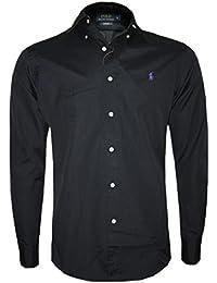 cd09487bc0a5 Ralph Lauren Polo Long Sleeve Men s Custom Fit Shirt Black
