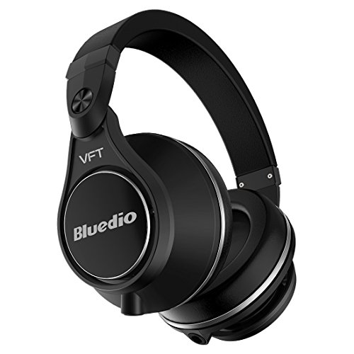 BluedioUPlus(UFO)Proauriculares inalámbricos bluetooth Extra Bass cascos de diadema PPS12 (Negro)
