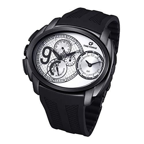 Time Force tf3330m03–Montre avec bracelet en acier pour homme, Blanc/Gris