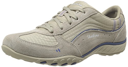 Skechers Breathe-Easy Just Relax, Chaussons Sneaker Femme Beige