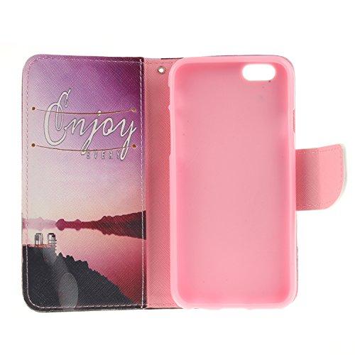 Ooboom® iPhone 8/iPhone 7 Coque PU Cuir Flip Housse Étui Cover Case Wallet Portefeuille Supporter avec Porte-cartes Fermeture Magnétique pour iPhone 8/iPhone 7 - Léopard Phare