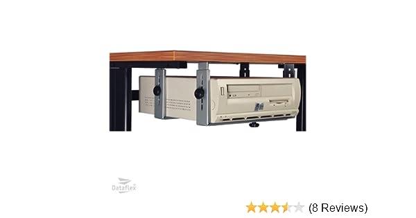 schwarz : 340-460 mm Horizontally Dataflex 32.183 Basic Halter unter dem Tisch Vertically H/öhe einstellbar : 155-310 mm//