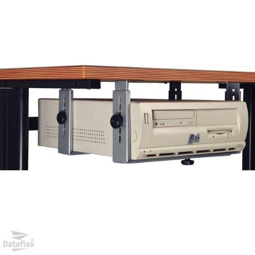 Dataflex 32.182 Basic Halter unter dem Tisch (Höhe einstellbar (Horizontally) : 155-310 mm/(Vertically): 340-460 mm) Silber -