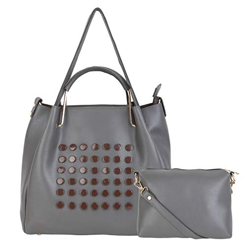 don cavalli Women's PU Leather Handbag (Grey)