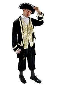Party/Fancy Dress/Halloween Men Costume Baroque Pirate Aristocrat Lord Privateer Buccaneer Nobleman Size M/50 (EU)/40 (UK)/40 (US)