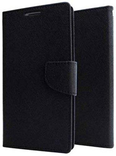 Harsh E Shop Mercury Magnetic Lock Diary Wallet Style Flip Cover Case For Samsung Galaxy J2(6) (New 2016) / J2-6 (2016) / J2 Pro J210 (Black)