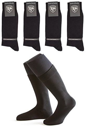 Lord of Socks - 5 Paar Herren-Business-Socken schwarz aus Baumwolle // SPARPAKET // in Größe 39-42 // ÖKO-TEX100 // elegante Socken // Modell BERLIN …
