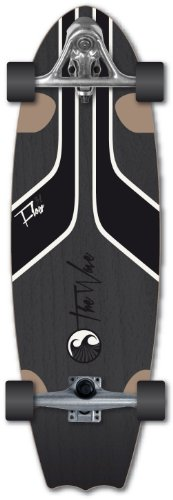 Wave Skateboard - Longboard modello Flow, nero (nero), 31''
