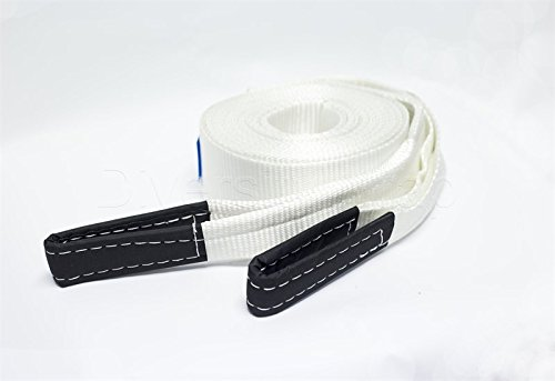High Strength Towing Strap Car Heavy Duty Tow Straps Road Recovery Towing Cable Winch Strap Towing belt Road Towing Strap 17600Ib 5M With 2 Shackles//2 Anti-Proof Glove Carry Bag BUZIFU Tow Rope