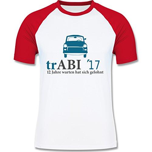 Abi & Abschluss - trAbi 2017 - Oldtimer - zweifarbiges Baseballshirt für Männer Weiß/Rot