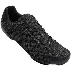 Giro Republic R Knit Road, Zapatos de Ciclismo de Carretera para Hombre, (Black/Charcoal Heather 000), 44.5 EU