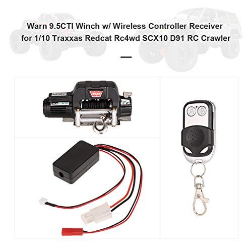 TianranRT Seilwinde Funk Fernbedienung Controller Empfänger für 1/10 Axial SCX10 D91 RC Crawler Keychain Remote Kit