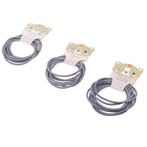 Zubehör für Haarfrisuren - für Frauen - Mädchen - 24pcs - 4.5 mm - verschiedene Farben - elastische Haargummis - Bänder - Pferdeschwanzhalter - Stirnband - Zopfband - Grau
