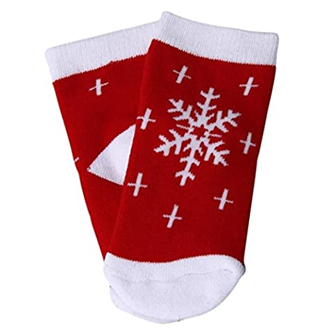 Douche Diy Rideau Costume - Reaso Neige Imprimer Noël Nouveau-né bébé Chaussettes