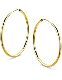 918eb3847467 orovi Mujer Oro – Pendientes de aro pendientes pendientes oro amarillo 14  quilates (585)