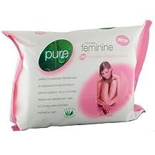 Puro íntimo Femenino Blancear el ph Completo Toallitas Limpiadoras (2 Paquetes De 25 Toallitas)