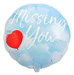 Folat 64388 Missing You - Globo (45 cm), Color Azul