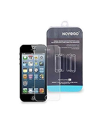 NOV@GO® -Film protection écran en verre trempé haute transparence et ultra résistant (iPhone 4/4S)
