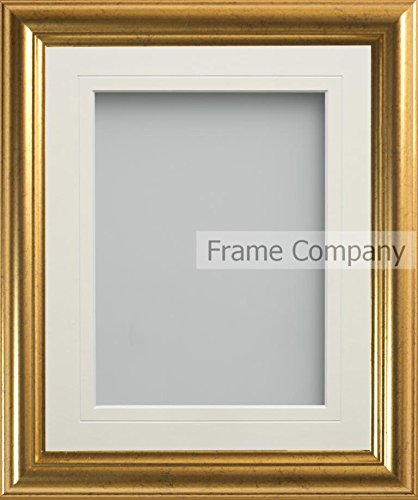 frame company eldridge gold picture photo frames with ivory mount choice of sizes amazoncouk kitchen home